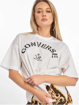 Converse T-skjorter Palm Tree Stripes Boxy hvit