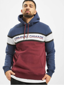 Criminal Damage Hoodie Mason  red