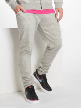 Criminal Damage Jogginghose Pinstripe grau
