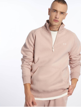 Criminal Damage Pullover Muscle Half Zip rosa