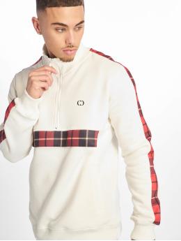 Criminal Damage Pullover Check Globe weiß