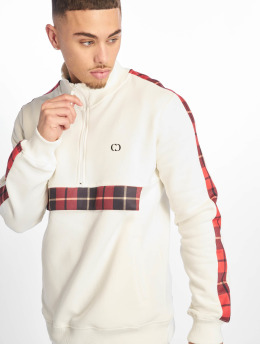 Criminal Damage Pullover Check Globe white