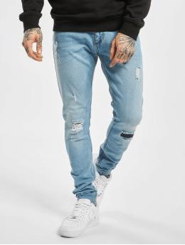 Criminal Damage Skinny Jeans Shelby modrý