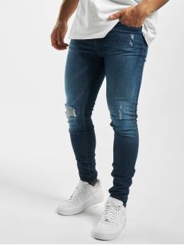 Criminal Damage Skinny Jeans Jonboy  niebieski