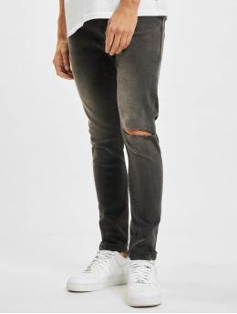 Criminal Damage Skinny Jeans Rip szary