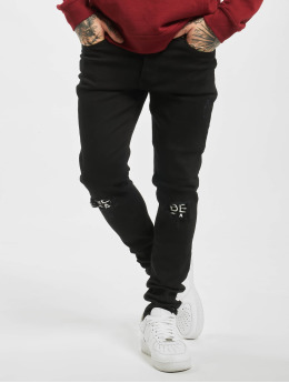 Criminal Damage Slim Fit Jeans Real svart