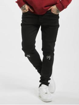 Criminal Damage Slim Fit Jeans Real zwart