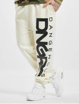 Dangerous DNGRS joggingbroek Classic  wit