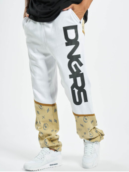 Dangerous DNGRS Bear Sweatpants Beige/White