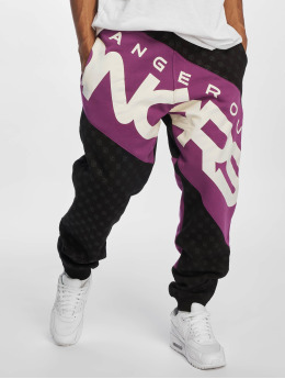 Dangerous DNGRS Toco Sweatpants Black Violet