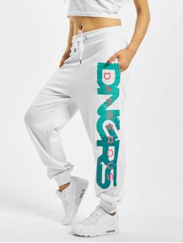 Dangerous DNGRS Pantalón deportivo Hyena blanco