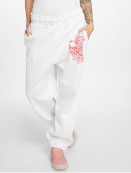 Dangerous DNGRS Pantalone ginnico Flower  bianco