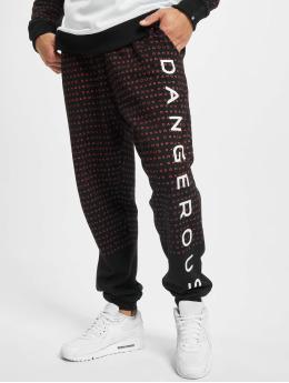Dangerous DNGRS Pantalone ginnico Wordpattern nero