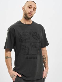Dangerous DNGRS t-shirt x Gomorrha  grijs