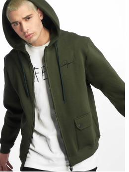 De Ferro Hoodies con zip Zip Click verde