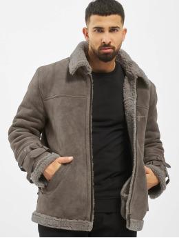 De Ferro Leather Jacket Dread  grey