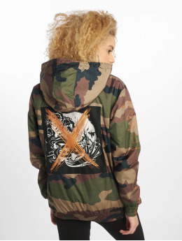 De Ferro Lightweight Jacket Crossed Face Zip camouflage