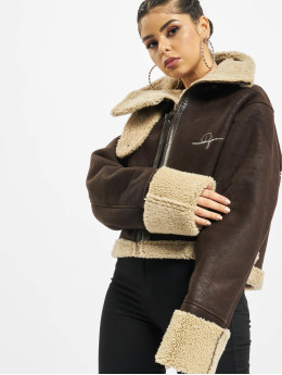 De Ferro Manteau hiver Brown Lam brun