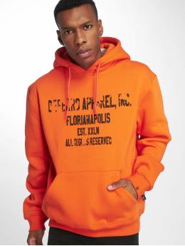 De Ferro Mikiny Hood Word Orange oranžová