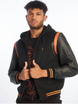 De Ferro Veste & Blouson en cuir Bb Orange Art noir