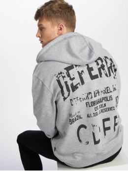 De Ferro Zip Hoodie Deferro Law grå