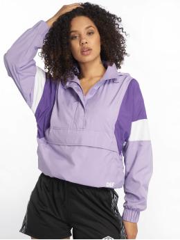 DEF Демисезонная куртка Colourblock  пурпурный