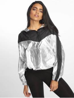 DEF Демисезонная куртка Glossy серебро