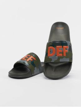 DEF Badesko/sandaler Defiletten  kamuflasje