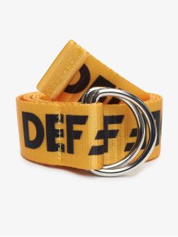 DEF Cinturón Canvas amarillo