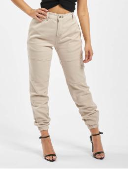 DEF Látkové kalhoty Xana  béžový