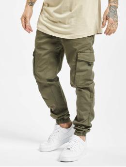 DEF Slim Fit Jeans Pete olijfgroen