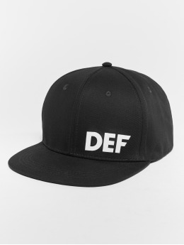 DEF Snapback Caps Daddy Fit svart