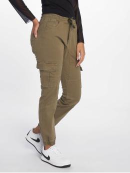 DEF Spodnie Chino/Cargo Lea oliwkowy