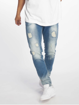 DEF Straight Fit Jeans Wash modrý