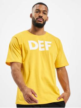 DEF T-Shirt Her gelb