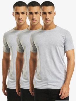 DEF T-Shirt Weary 3er Pack grau