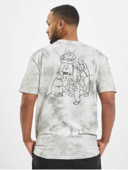 DEF t-shirt Tie Dye Capsule grijs