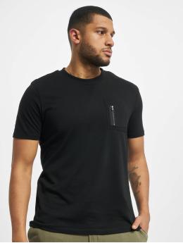 DEF T-Shirty Happy czarny