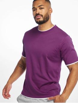 DEF T-Shirty Basic  fioletowy