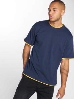 DEF T-Shirty Basic niebieski