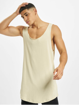 DEF Tank Tops Basic Long  beige