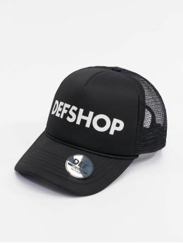 DEF Trucker Caps Logo čern