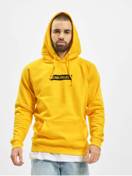 Denim Project Hoodie DP Box Logo  yellow