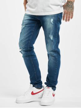 Denim Project Jean coupe droite Mr. Red Destroy bleu