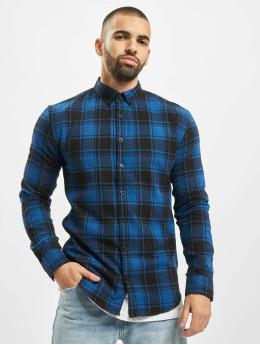 Denim Project Košile Check  modrý