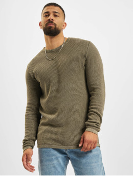 Denim Project Pullover Dot Knit  khaki