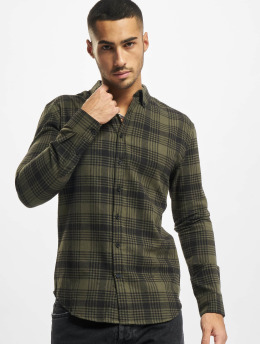 Denim Project Skjorte Check grøn