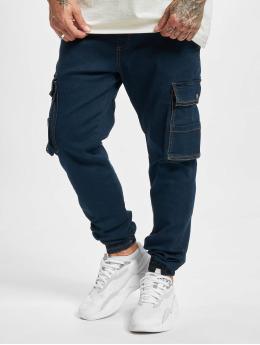Denim Project Spodnie Chino/Cargo DP Jogger  niebieski