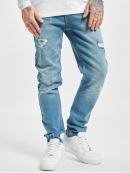 Denim Project Straight Fit Jeans Mr. Red Destroy  blau