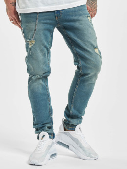 Denim Project Straight fit jeans Mr. Red Chain Destroy blauw